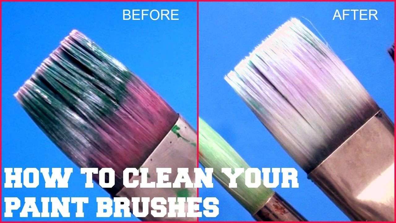 How to clean your dried acrylic paint brushes 2017