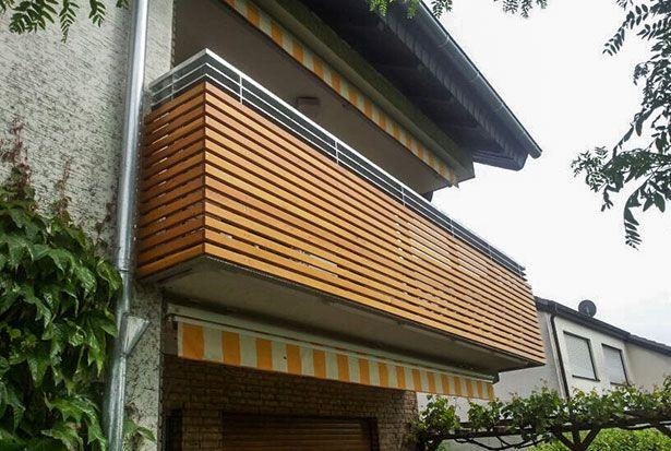 balkon aus stahl und holz wartungsfrei und best ndig durch die feuerverzinkung extrem kurze. Black Bedroom Furniture Sets. Home Design Ideas
