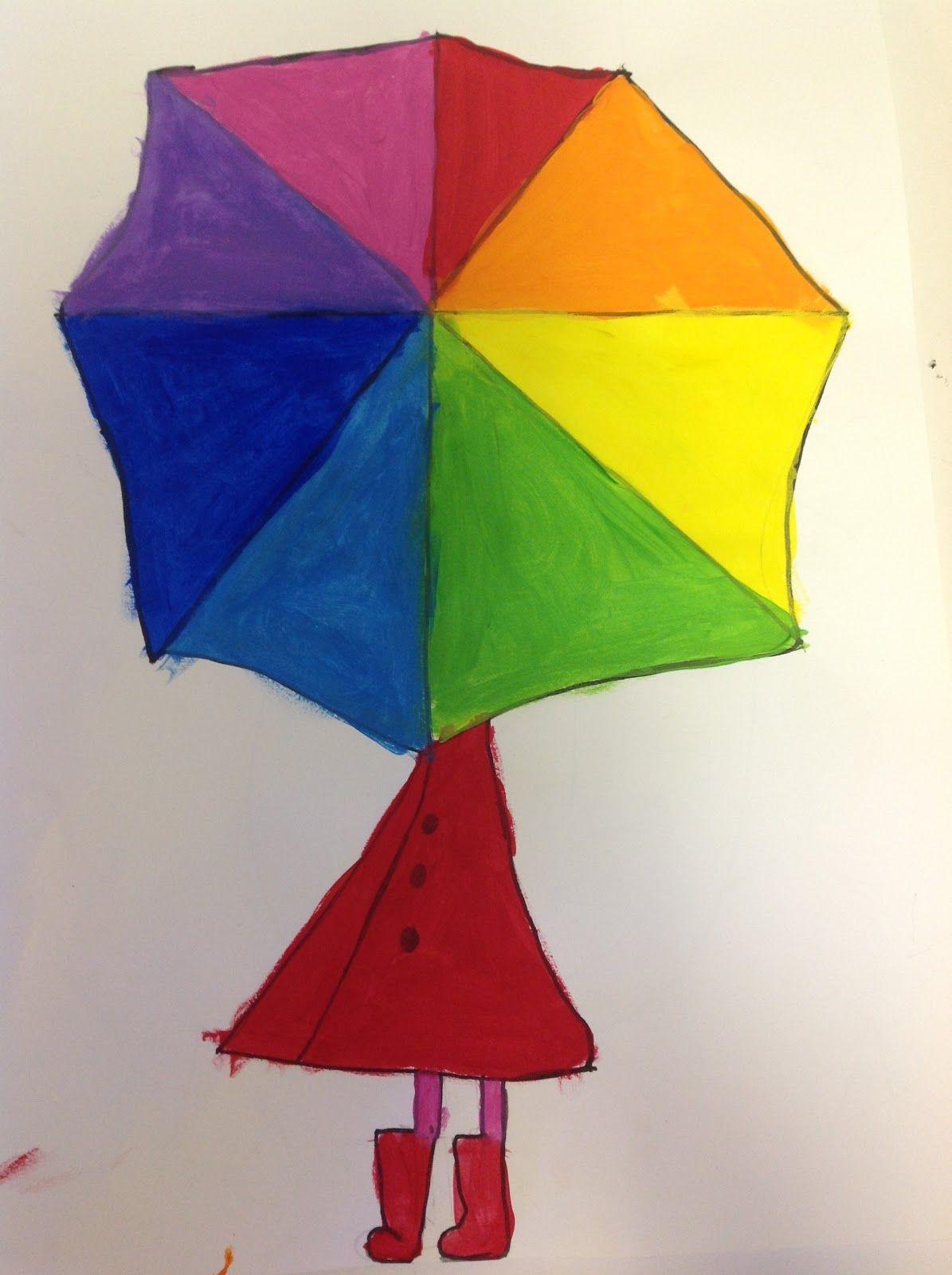 Color Wheel Umbrellas Color Wheel Projects Art Fundraiser