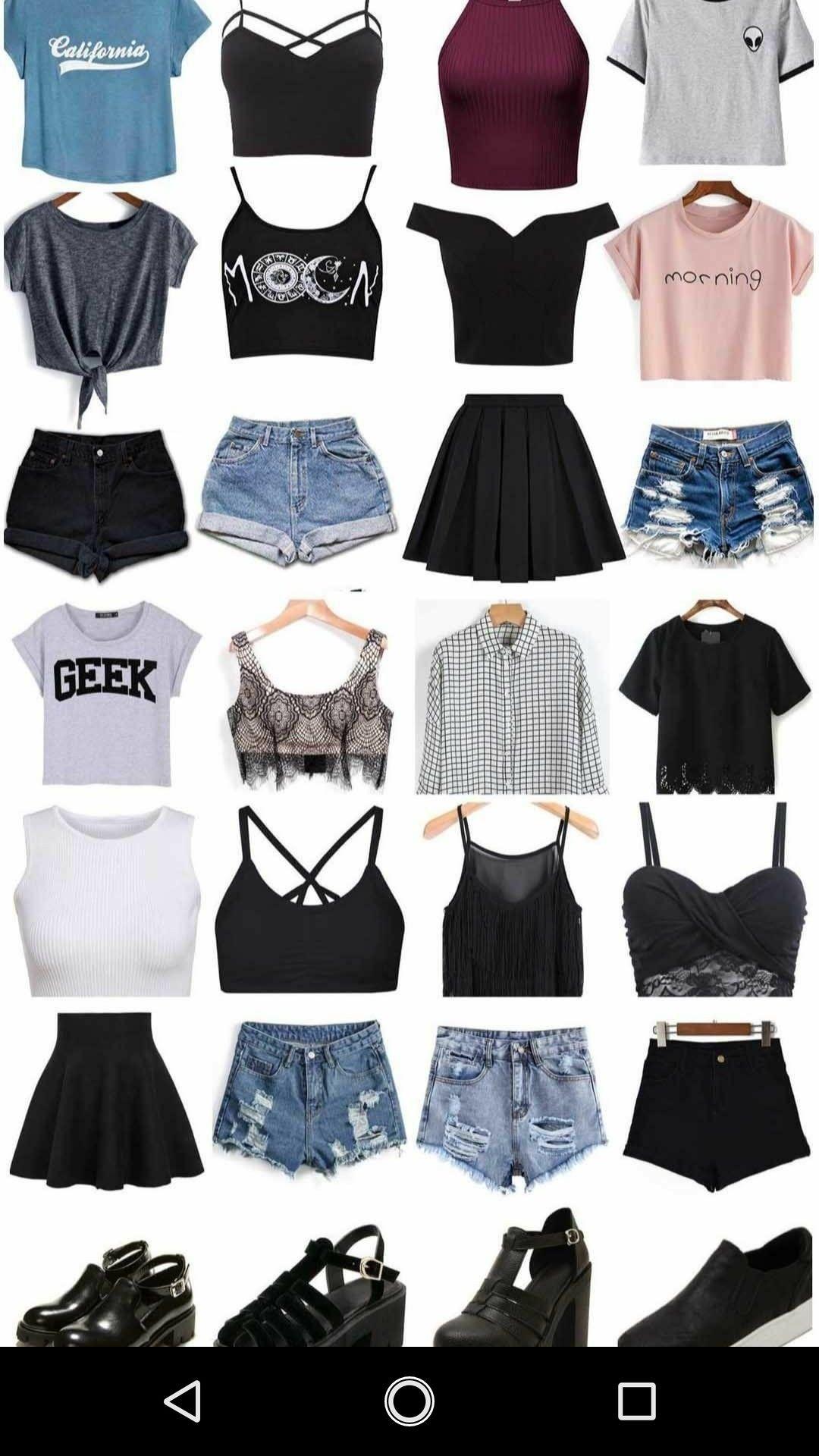 Roupas tumblr e moda teen