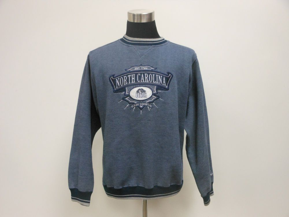 Vtg 90s Midwest Embroidery North Carolina Tarheels Crewneck