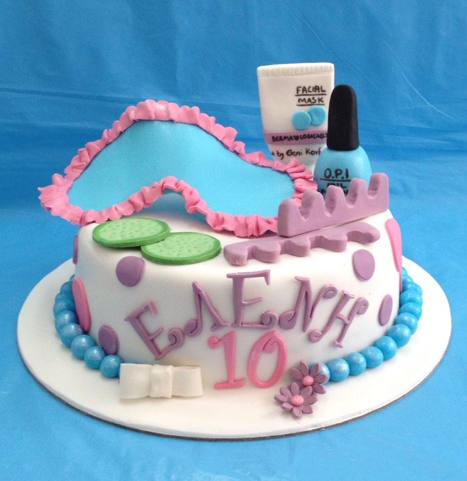 Miraculous Spa Themed Cake With Images Spa Birthday Cake Bright Birthday Personalised Birthday Cards Xaembasilily Jamesorg