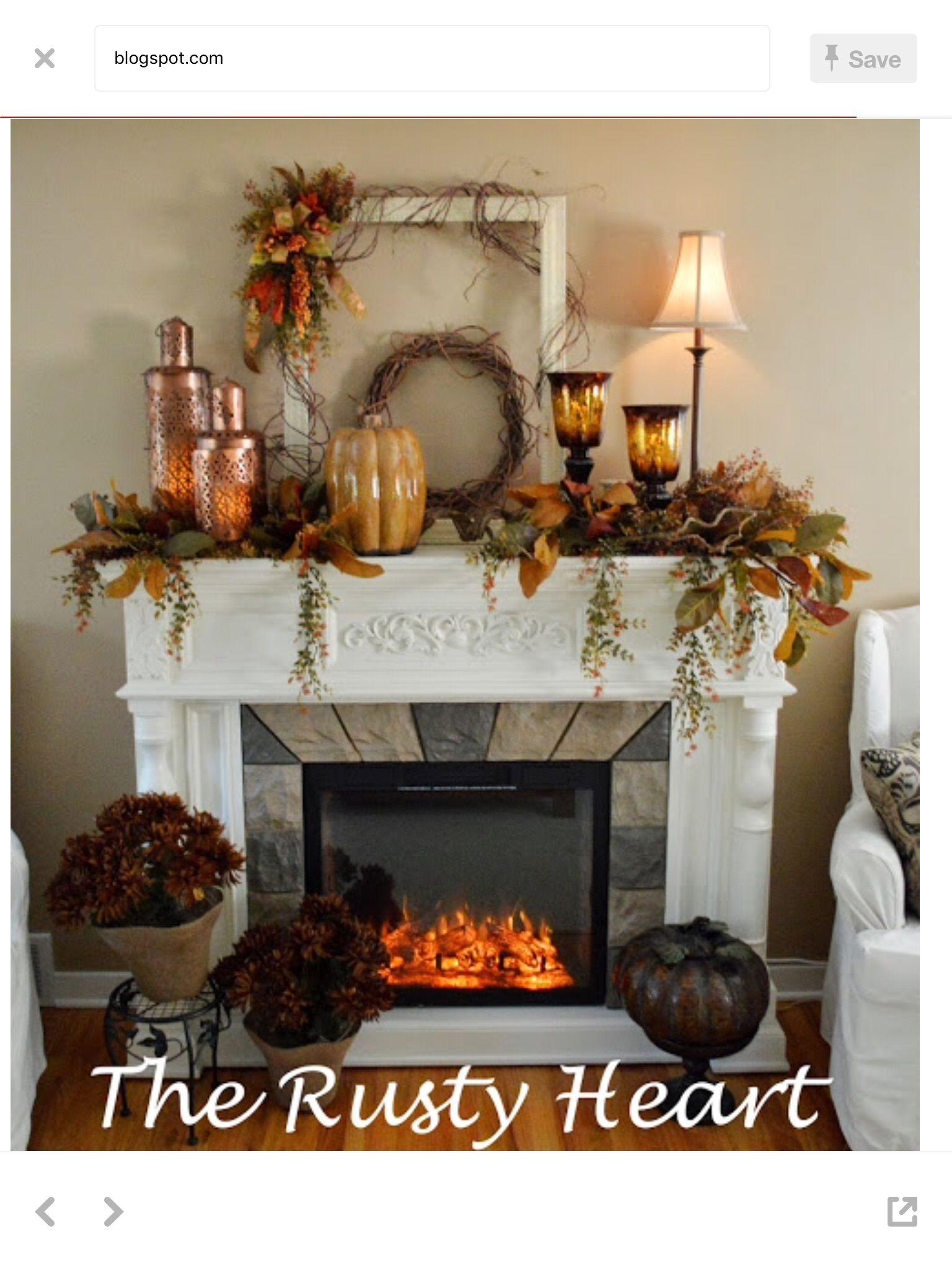 Thanksgiving Mantel Fall Rustic Mantel Decor Old Antique