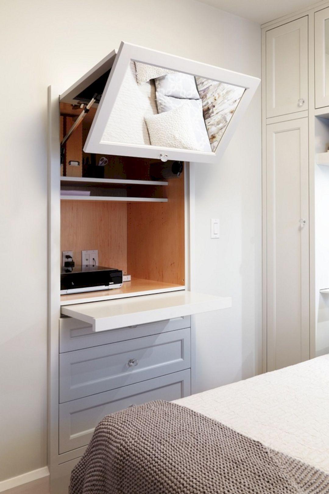 Bedroom Hidden Shelving Design 5 Hidden desk, Hidden
