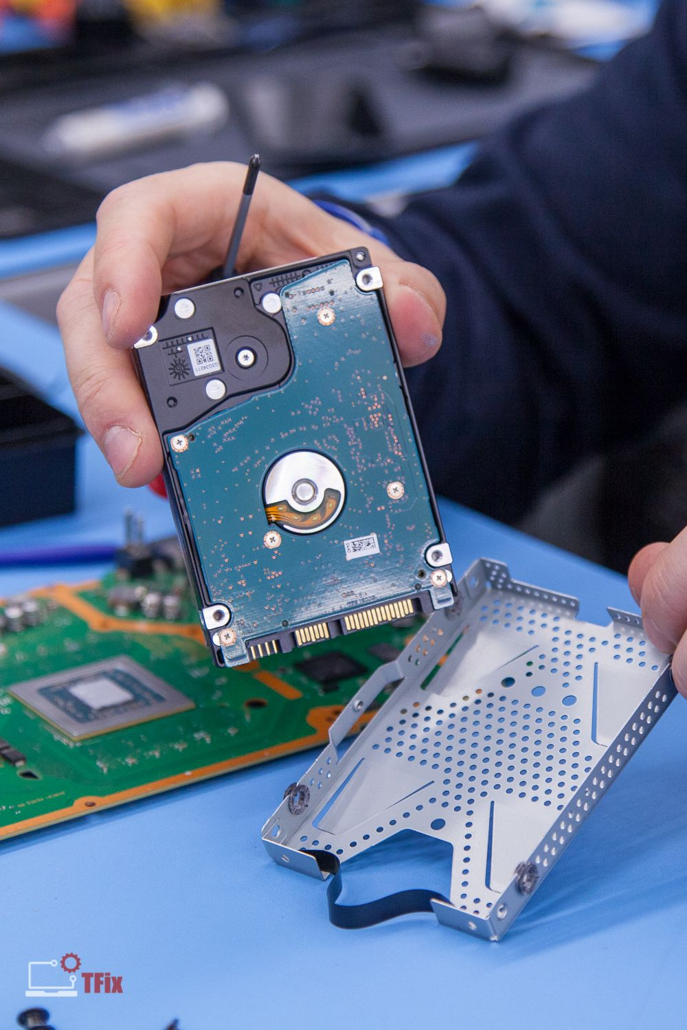 Today, we're working on PS4 hard drive replacement, which failed