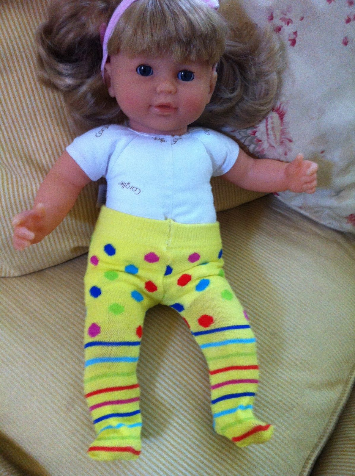 The hungry bookworm doll clothes short cuts tights from dollar