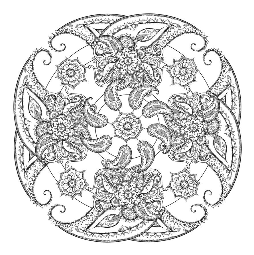 paisley Coloring Pages Paisley