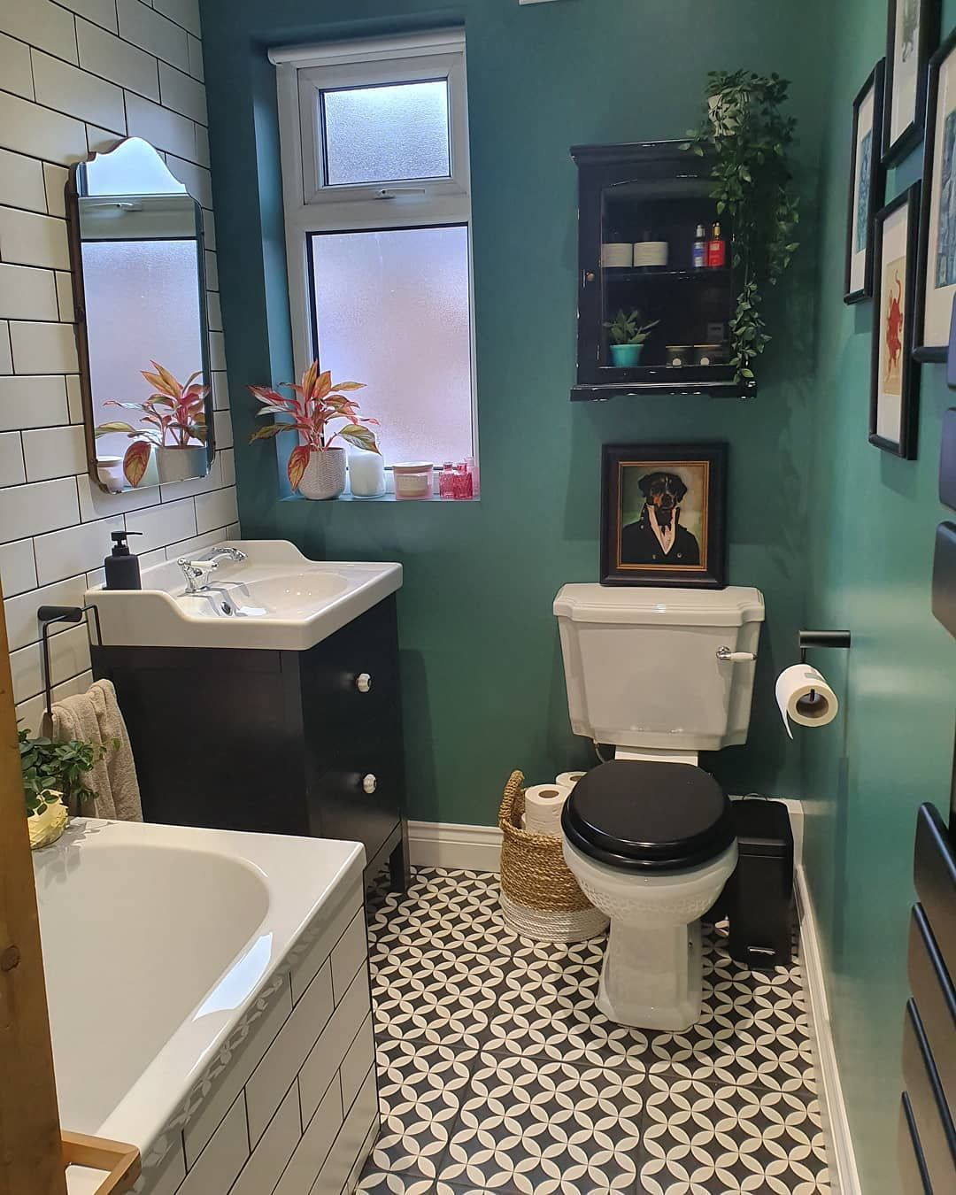 B E T H On Instagram Myhousethismonth Scrubs Up Well We Had To Live With A Baby Blue Bathroom For Over 2 Years With Blue Bathroom Breeze Blocks Bathroom