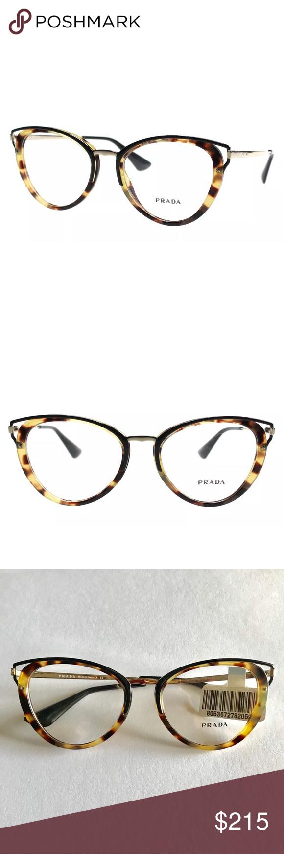 5f5c0adc7b7 Prada women s Glasses PR53U 7S01O1 Medium Havana Beautiful cat eye Prada  Glasses Frames PR53U 7S01O1 Medium Havana 52mm Womens Retail  400 Comes  with case ...