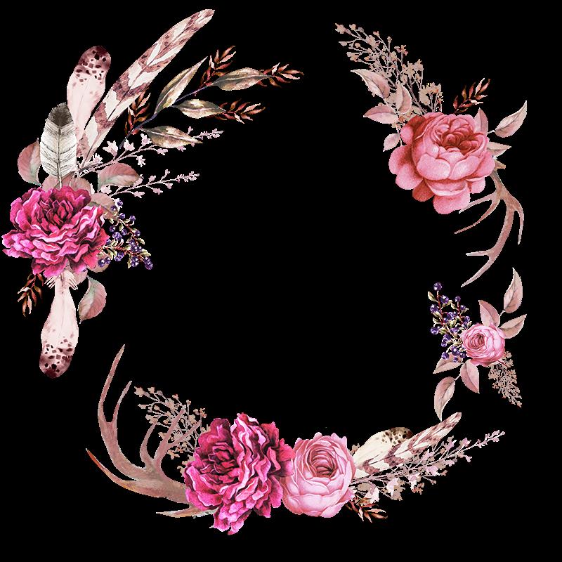 Frames Floral Em Png Para Baixar Importados Da Bia