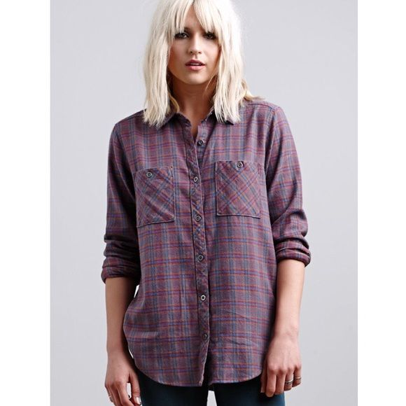 LA Hearts Boyfriend Flannel NWOT Oversized flannel purchased from Pacsun. size XS, fits XS to possibly a Medium. I'm 4'10 and it's way too long on me. Brand new condition. PacSun Tops