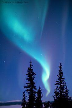 "Fine Art Print, Aurora Borealis, Northern Lights, Kluane Lake, Yukon Territory, Canda, Alaska, 5x7"""