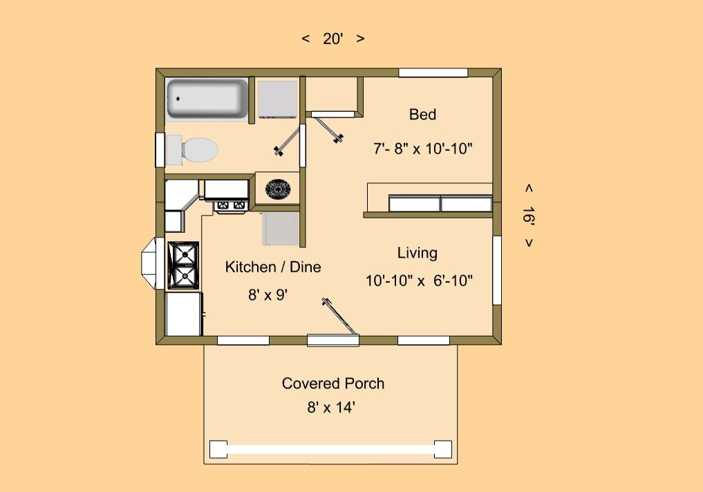 320 Sq Ft Home Google Search Tiny House Floor Plans Tiny House Plans Cabin Floor Plans