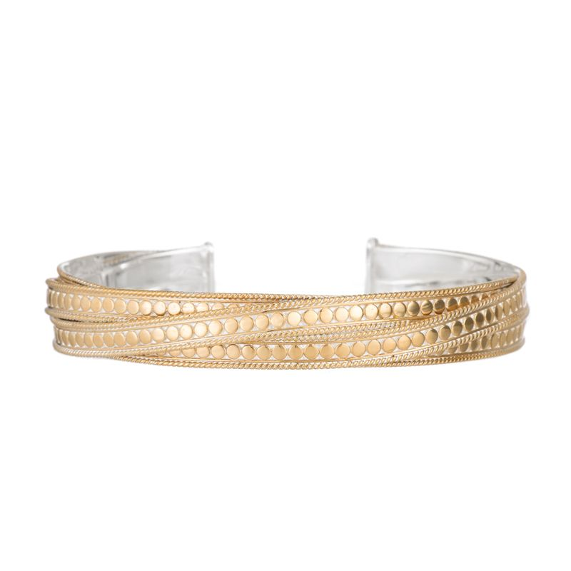 Anna Beck Bracelets Twisted Skinny Cuff Gold