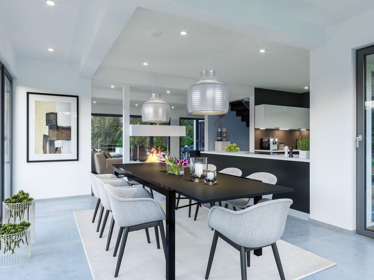 Einrichtungsideen Haus inneneinrichtung esszimmer modern offene küche mit esstisch aus