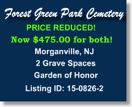 Buy Sell Plots Burial Spaces Cemetery Property For Sale Morganville New Jersey Morganville Cemetery Property For Sale