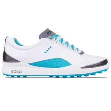 Ecco Golf Ladies Biom Hybrid Shoe White Turquoise