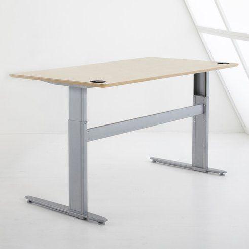 Conset 501 25 Series Metal Steel Rectangular Computer Desk With Beech Veneer To Electric Height Adjustable Table Adjustable Height Desk Adjustable Height Table