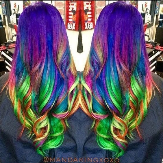 Pin By T Lopes On Beauty Pinterest Hair Coloring Rainbow Hair