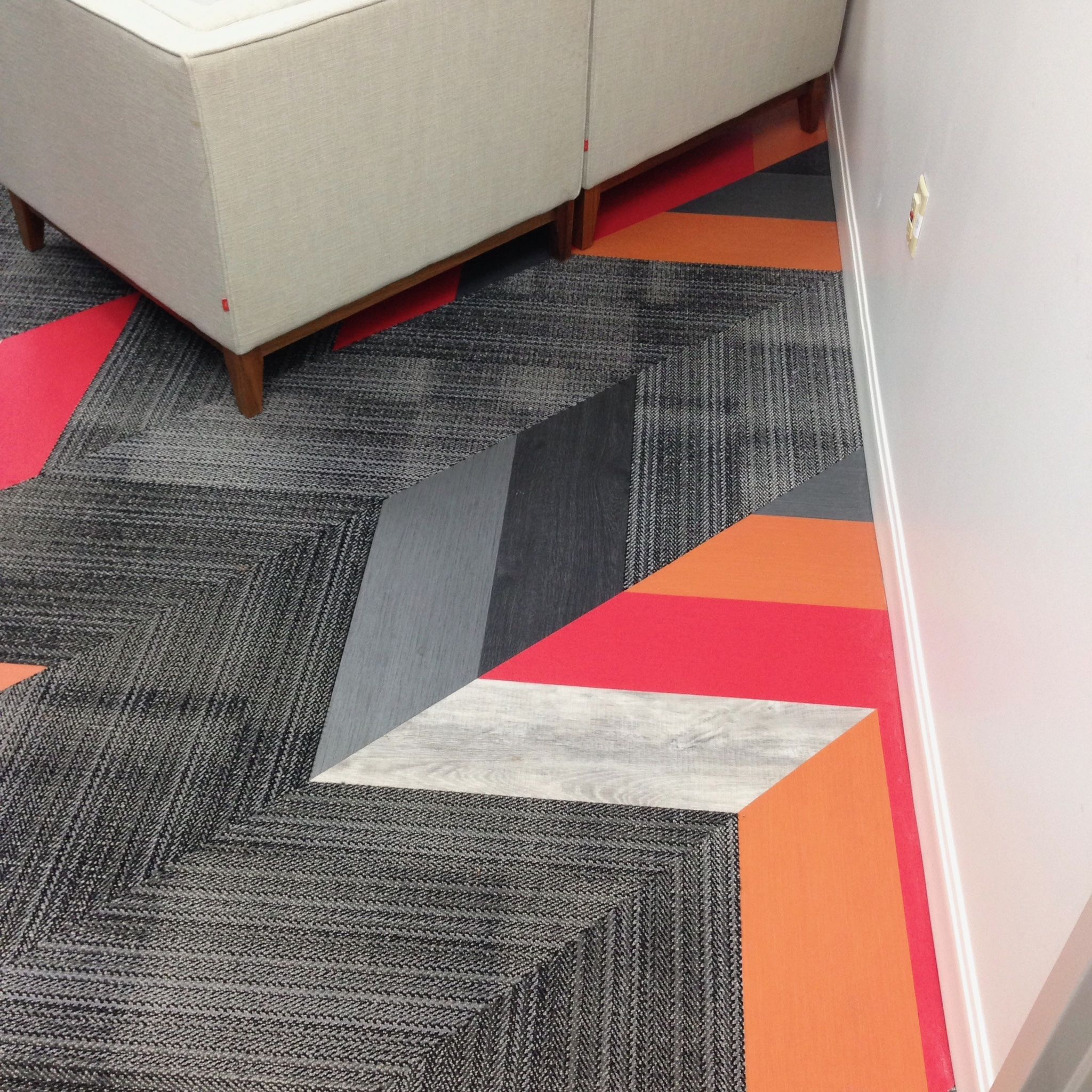 Mixed Materials Patcraft Flooring Carpet Tile Metallix
