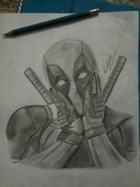 Deadpool Dibujo Drawing Pencil Projects To Try Marvel