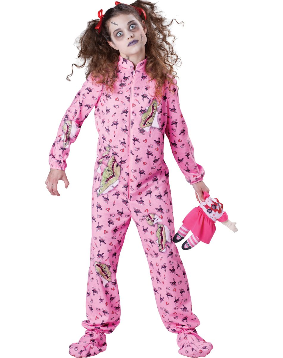 Zombie pajama girl halloween pinterest zombie girl costumes and children costumes - Costume halloween fille ...