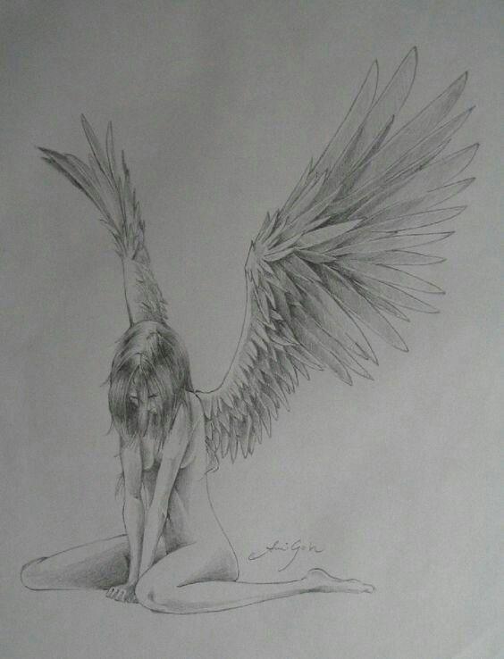 Anime Girl Angel Wings Sad How To Draw Manga Anime How To Draw