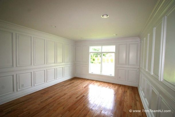 Full Wall Wainscoting With Two Panels And Chair Rail Diy Wainscoting Wainscoting Height Wainscoting Styles