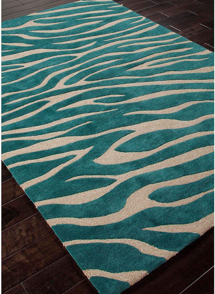 Modernrugs Com Brio Animal Magnetism Teal Modern Rug Zebra Rug Modern Area Rugs Zebra Print Rug