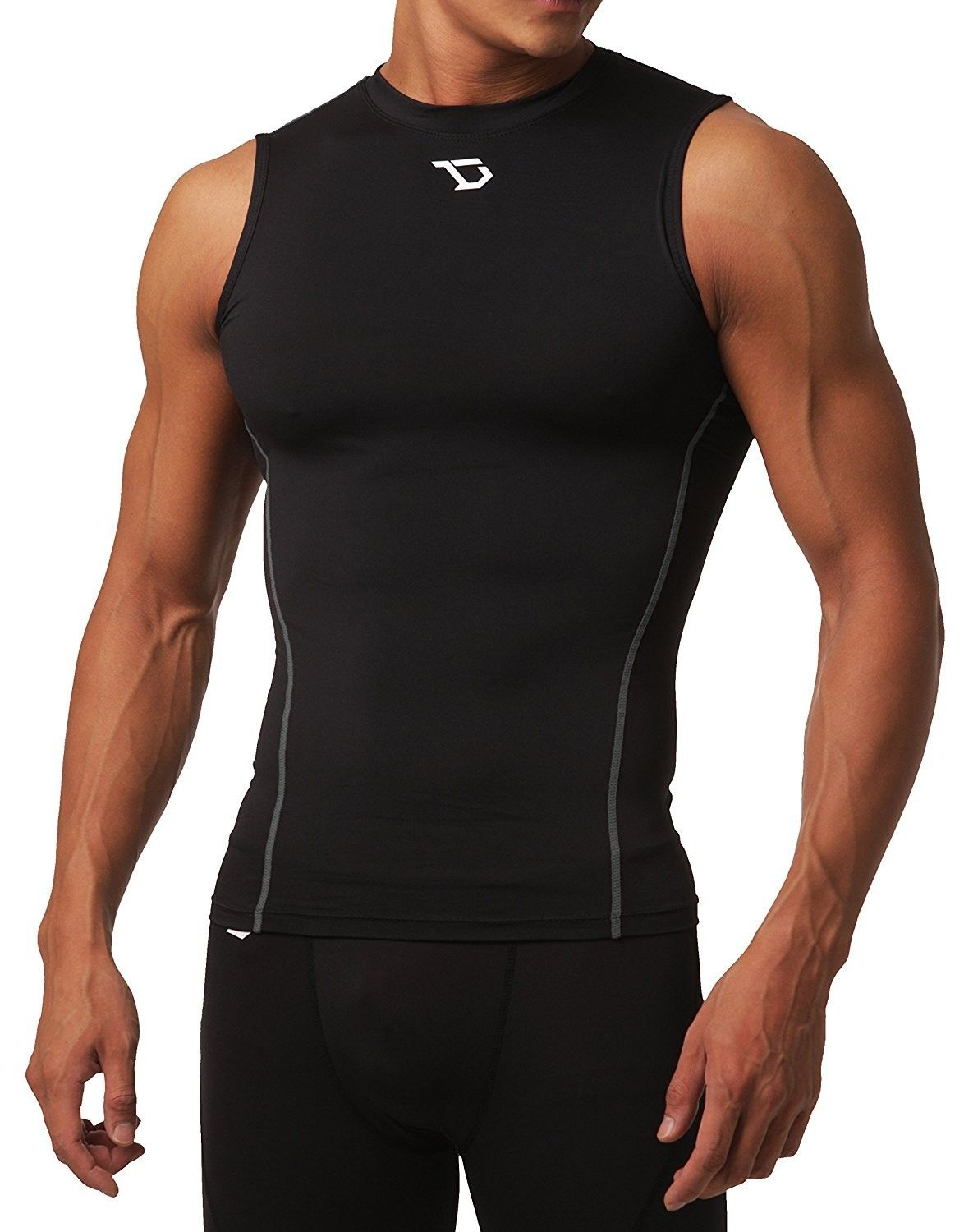 a8cc0d91 Men's Clothing, Active, Active Base Layers,Men's Cool Dry Compression  Baselayer Sleeveless Muscle T-Shirt - U10-blacksilver - C817AAHC4WQ  #Fashion #Active ...