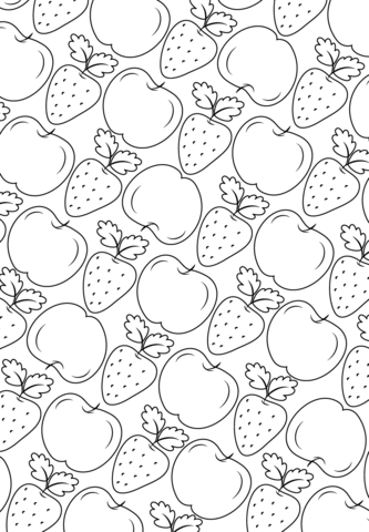 Ausmalbild: Frucht-Muster. Kategorien: Muster. Kostenlose ...