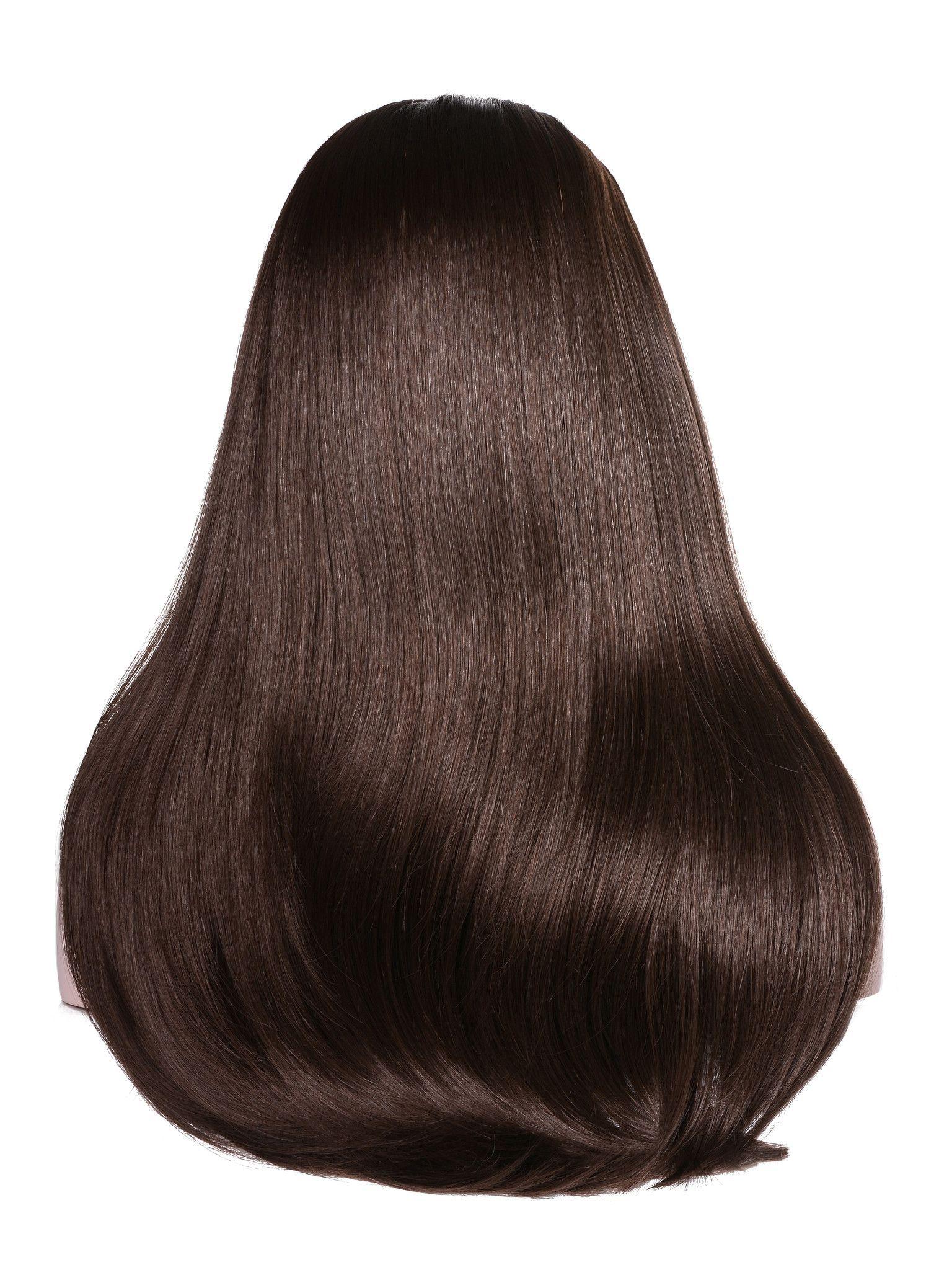 Mens haircut tutorials mix long  womenus wigs hairpiece straight hair piece with
