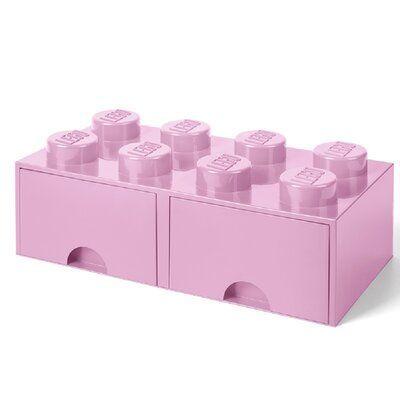 Zoomie Kids LEGO Storage Brick Drawer 8 Bright Toy Box Finish: Light Purple#box #brick #bright #drawer #finish #kids #lego #light #purple #storage #toy #zoomie