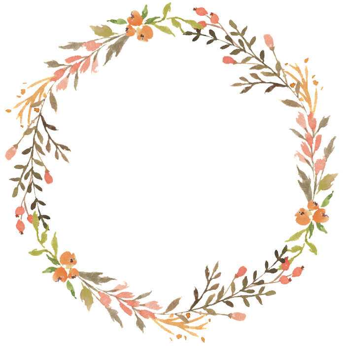 Floral Wreath Watercolor Transparent Decorative Floral Wreath Watercolor Wreath Watercolor Wreath Drawing