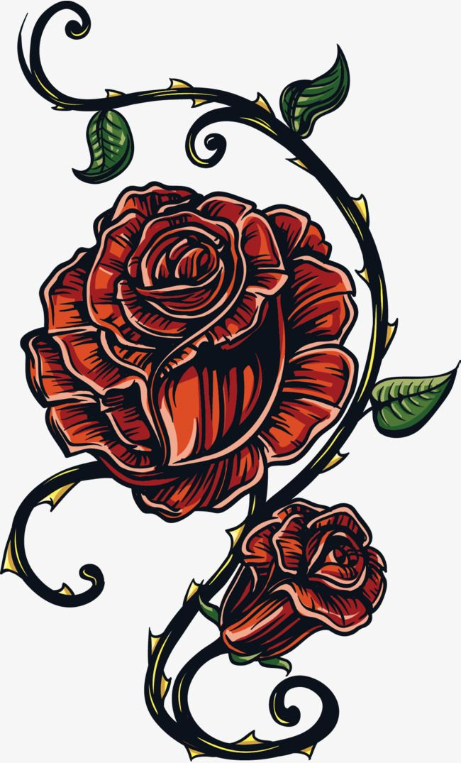 Flowers Flowers Tattoo Vector Dark Roses Tattoo Flower Tattoos Skull Coloring Pages