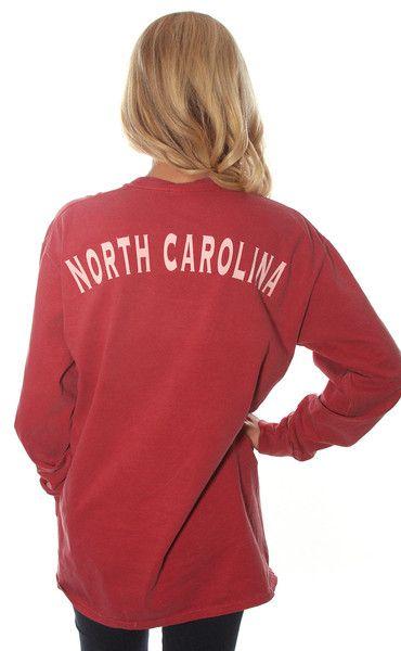 state spirit long sleeve - North Carolina [red]