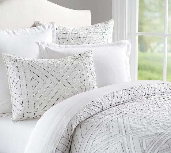 Maya Stitch Quilt & Sham | Pottery Barn | Pillows | Pinterest ... : quilt stitch - Adamdwight.com