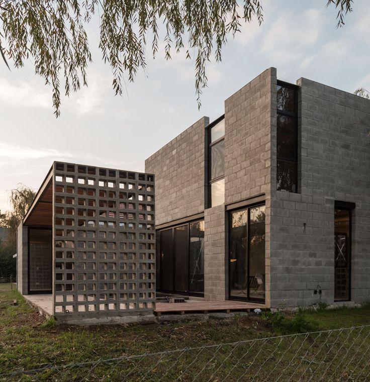 Resultado de imagen para casa lujan con bloques de cemento