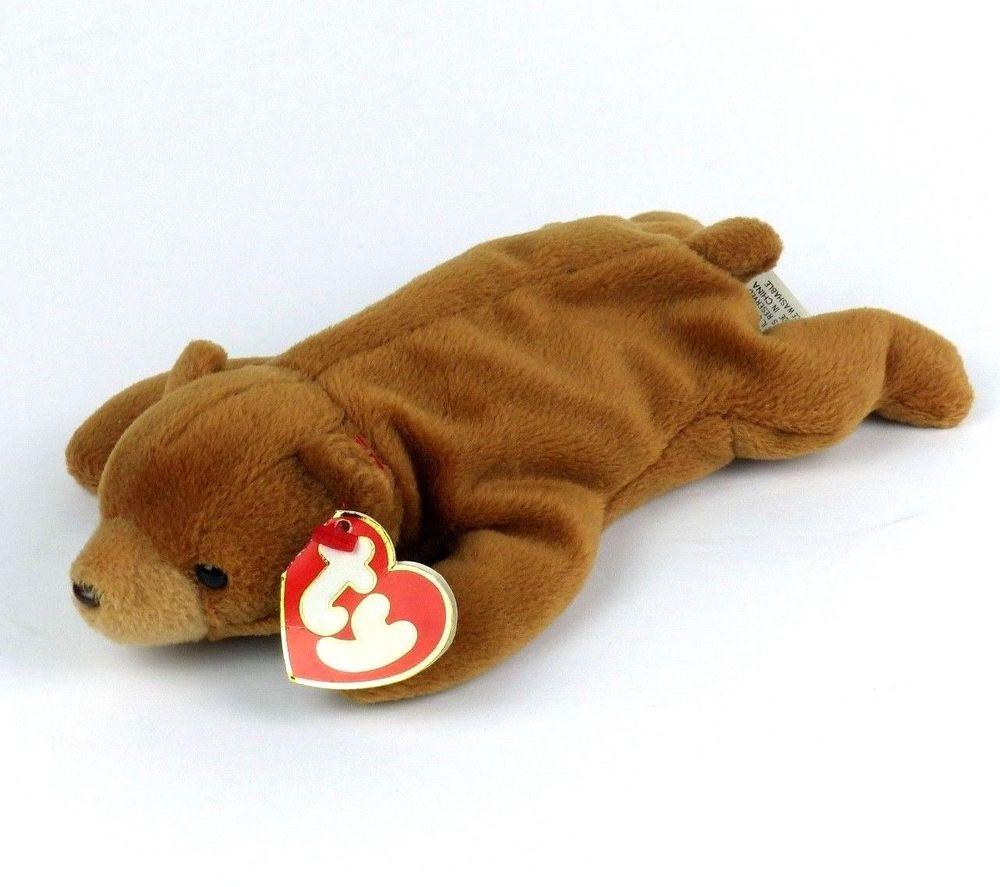 Cubbie The Bear TY Beanie Baby 1993 PVC 4010 Retired Error 3rd 1st Gen  German a7f3061b457a