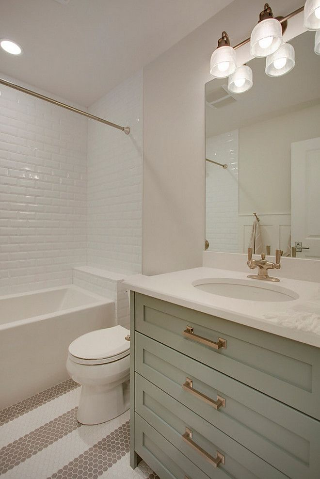 Small bathroom. Modern. Simple. Updated. Clean lines ...