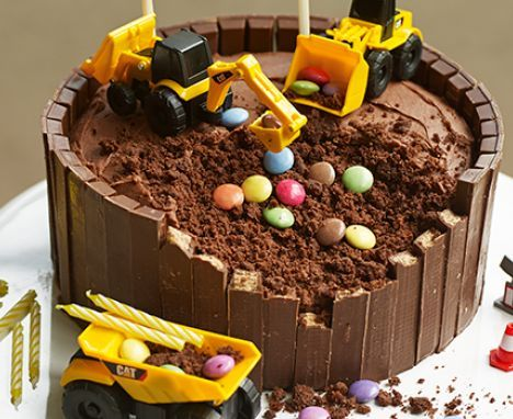 Easy castle cake | Recipe in 2019 | Cake, Digger birthday ...