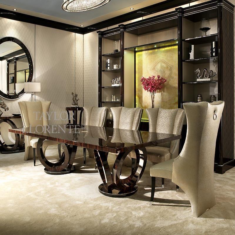 Designer Macassar Ebony Dining Table Elliptical Taylor