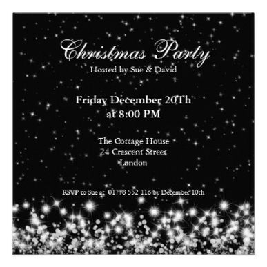 Elegant #Christmas Party #Invitations Letu0027s Party Pinterest - holiday party invitation