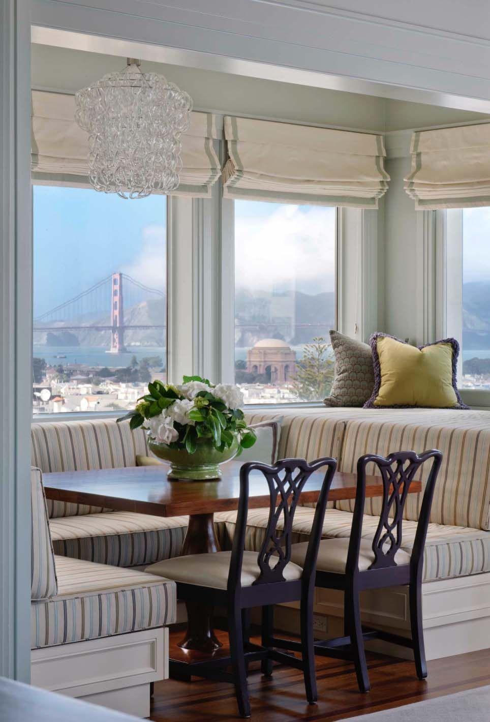 Kitchen nook window treatments   window nooks framing spectacular views  nook