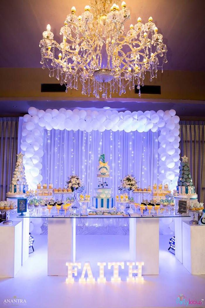 Stars And Moon Birthday Party Kara S Party Ideas Sweet 16 Party Decorations Sweet 16 Party Themes Sweet 15 Party Ideas Quinceanera