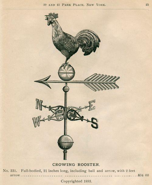 2b6888d5d874cb Crowing Rooster weather vane   Freebies & Printables   Weather vanes ...