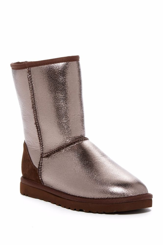 db4946d359e Details about New UGG Uggs Classic Short metallic COOPER Gold Bronze ...