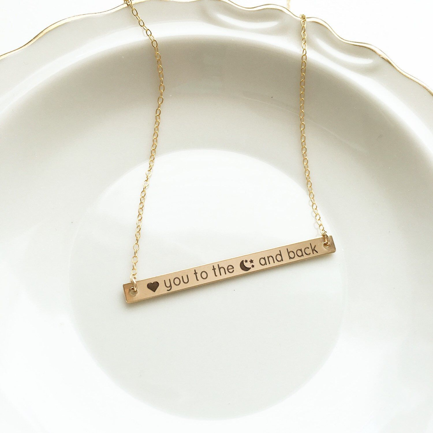 Say It With Symbols Personalized Bar Necklace We Can Engrave Just