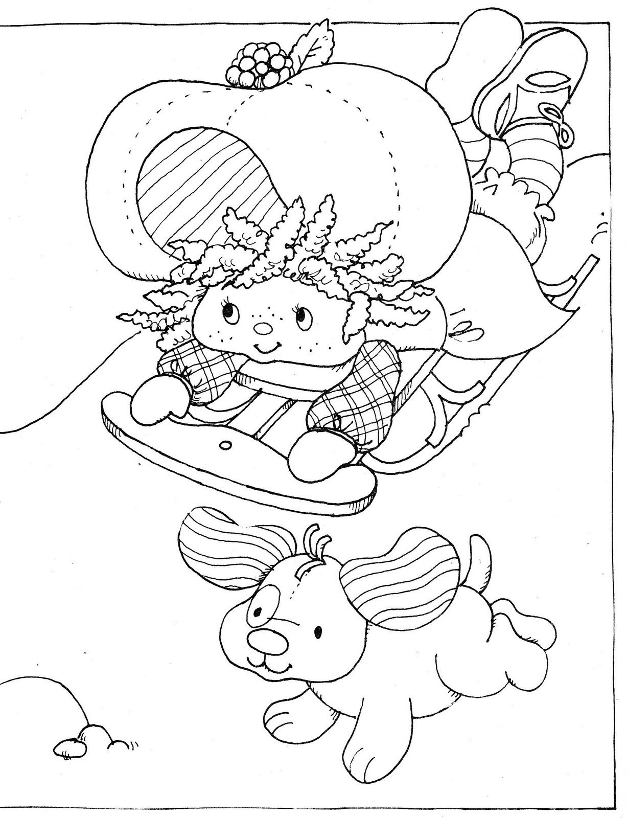 Winter fun coloring sheets - Vintage Kenner American Greetings Strawberry Shortcake Strawberry Shortcake S Winter Fun Coloring Book Back