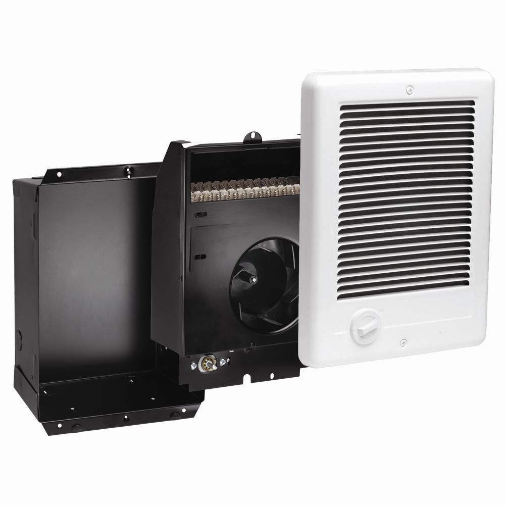 Cadet Com Pak 1 000 Watt 120 Volt Fan Forced In Wall Electric Heater In White Csc101tw The Home Depot Wall Mounted Heater Electric Heater Heater Thermostat
